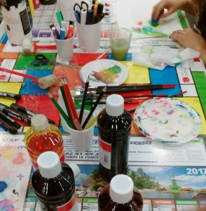 peinture, crayon, art therapie